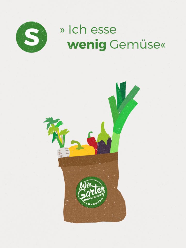 Im Jahresdurchschnitt erhältst du ca. 1,00 kg Gemüse-Vielfalt und 0,3 kg Kartoffeln pro Woche. Diese Zahlen basieren auf der Anbauplanung und können je nach Witterung höher oder niedriger ausfallen.