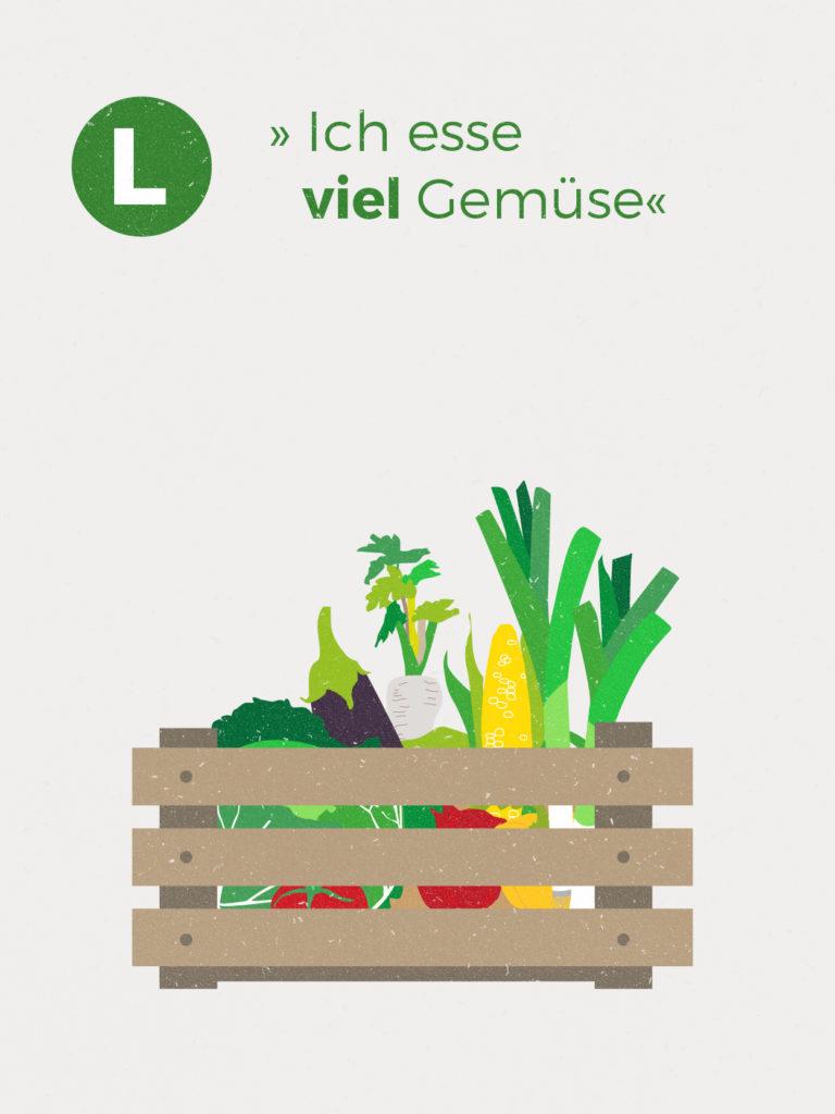 Im Jahresdurchschnitt erhältst du ca. 2,00 kg Gemüse-Vielfalt und 0,6 kg Kartoffeln pro Woche. Diese Zahlen basieren auf der Anbauplanung und können je nach Witterung höher oder niedriger ausfallen.