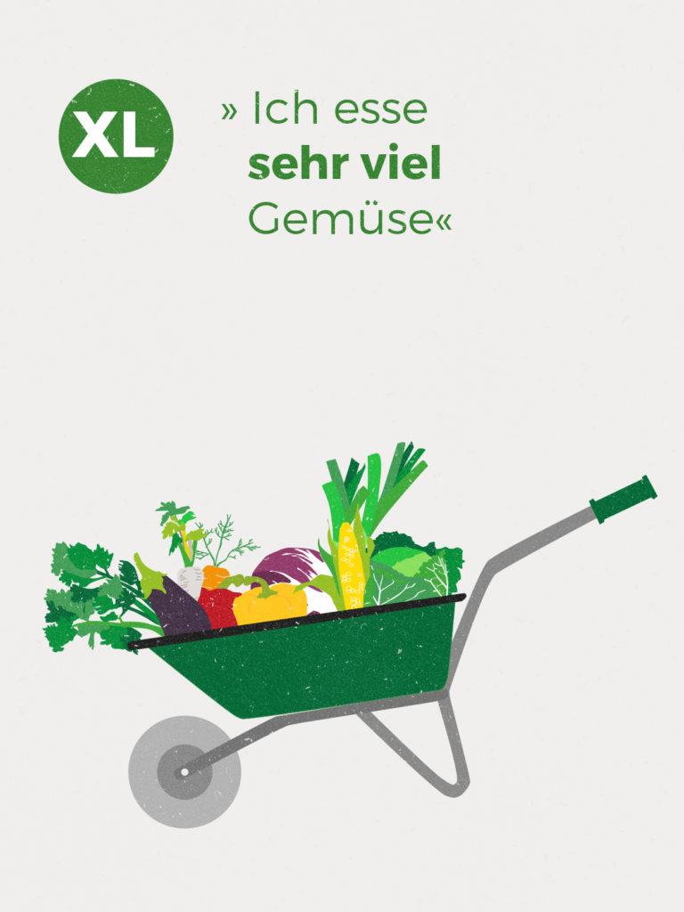 Im Jahresdurchschnitt erhältst du ca. 2,50 kg Gemüse-Vielfalt und 0,75 kg Kartoffeln pro Woche. Diese Zahlen basieren auf der Anbauplanung und können je nach Witterung höher oder niedriger ausfallen.